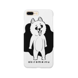 【あきらめいぬ】仁王立ち Smartphone cases