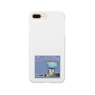 バドミントン★しょんぼりバージョン Smartphone cases
