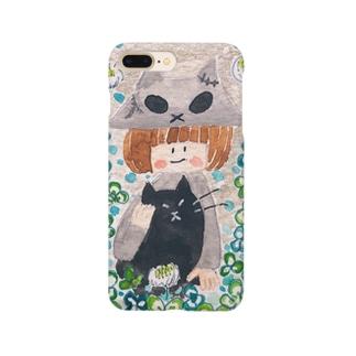 クローバーとスカル子ちゃん Smartphone cases