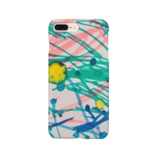 息子のペンアート(かぼちゃ) Smartphone cases