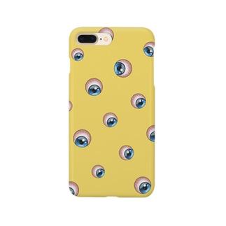 """""""どこでも見てるよ""""目玉柄スマホケース Smartphone cases"""