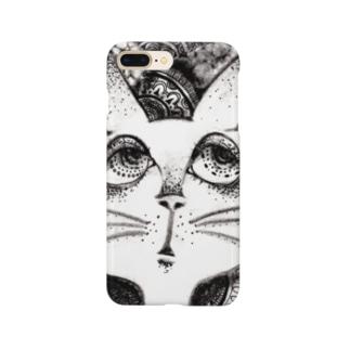 考え猫 Smartphone cases