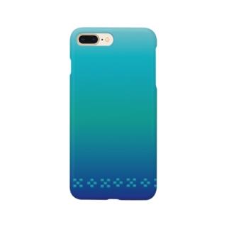 空と海の青 ミンサー [Hello!Okinawa] Smartphone cases