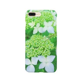 あじさいグリーン Smartphone cases