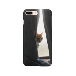考えるチャトラ Smartphone cases
