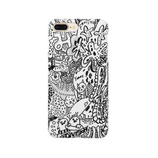 にじいろつぶつぶゼンタングル Smartphone cases
