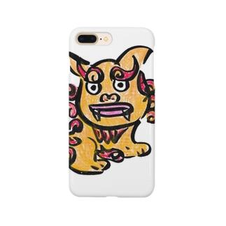 シーサー、沖縄、勝舟屋、かわいい Smartphone cases
