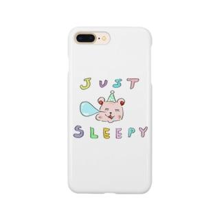 JUSTSLEEPYくま Smartphone cases