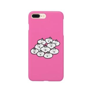 肉まんまんたくさん(ぴんく) Smartphone cases