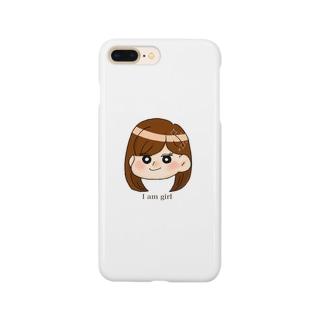 大人っぽい女の子 Smartphone cases