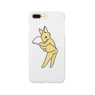 しっぽもふもふ (白) Smartphone cases