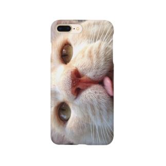 お茶乃介どアップ Smartphone cases