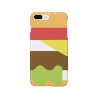 ハンバーガー 単品 Smartphone cases