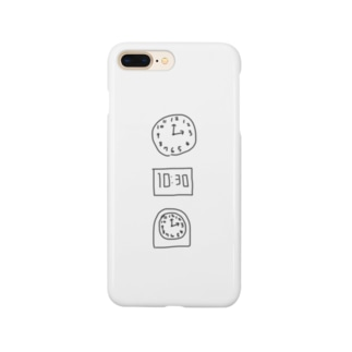 時間厳守 Smartphone cases