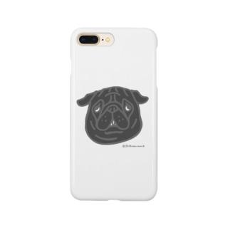 黒パグちゃん Smartphone cases