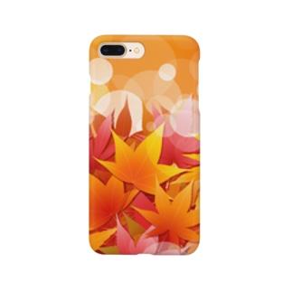 もみじ踏み分け Smartphone cases