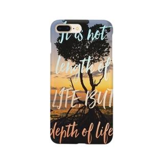 重要なのは人生の長さではない。人生の深さだ。 Smartphone Case