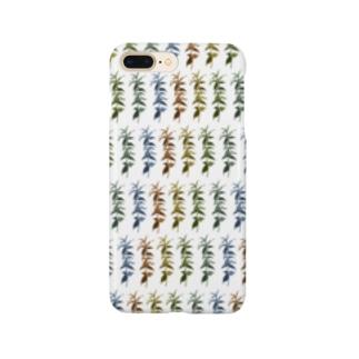 水草グラデーション Smartphone cases