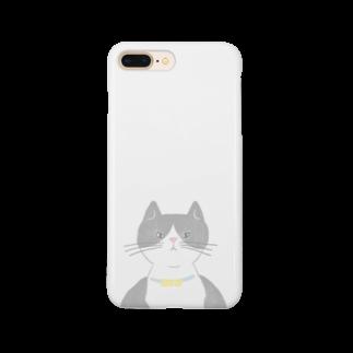 すぎやままりのはちわれ猫 Smartphone cases