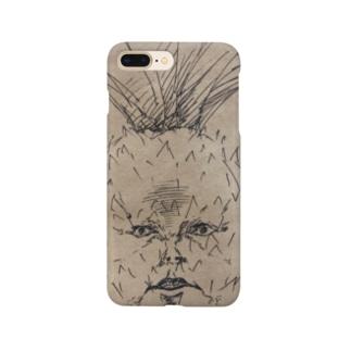 強面のパイナップル Smartphone cases
