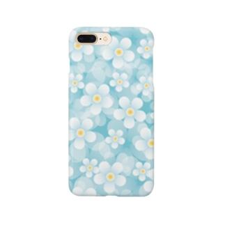 爽やかお花のスマホケース Smartphone cases
