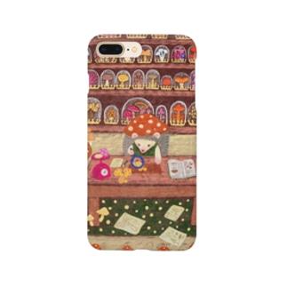 キノコ研究家のハリネズミくん Smartphone cases