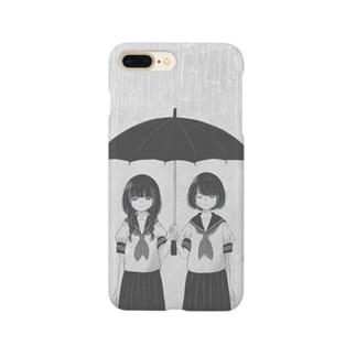 傘と女の子 Smartphone cases