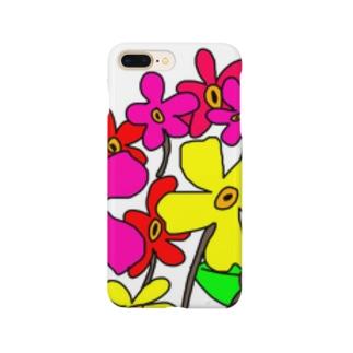手書きのお花 Smartphone cases