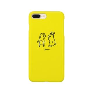 かろうじて柴犬とウサギ Smartphone cases