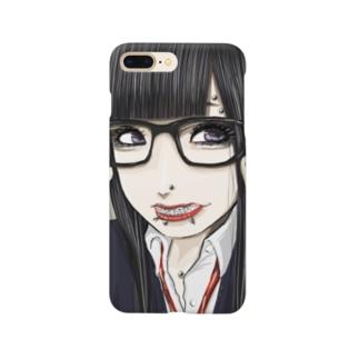 めがね女子 Smartphone cases