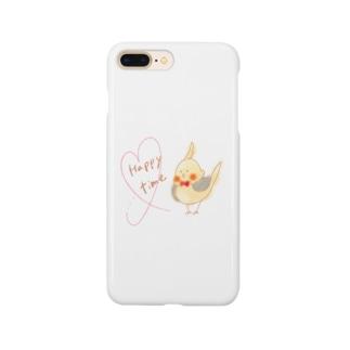 オカメ Happy time Smartphone cases