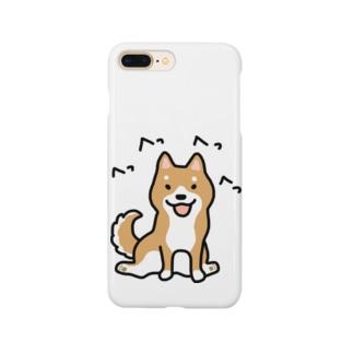 柴犬横座り Smartphone cases
