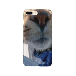 魚眼越し猫ちゃん Smartphone cases