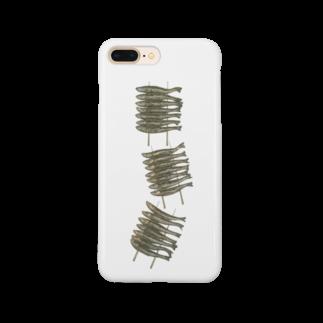 オハデザインのわかさぎのいかだ焼き Smartphone cases