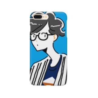 青空サマーメガネボーイ Smartphone cases