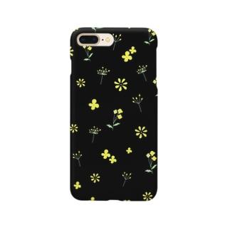 yellow flower (black) Smartphone cases
