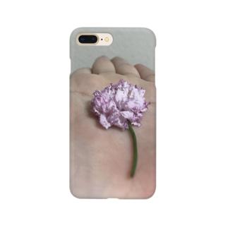 わたしの手と花 Smartphone cases