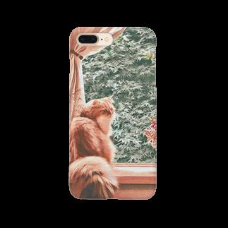 こべびちゃんのお店の窓辺の猫こべびちゃん  Smartphone cases