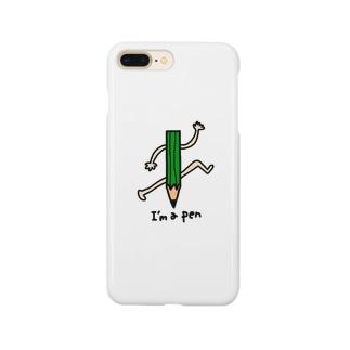 えんぴつさん Smartphone cases