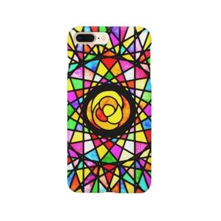 ステンドグラス風カバー Smartphone cases