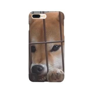 柴犬こはく ぶさいくver Smartphone cases