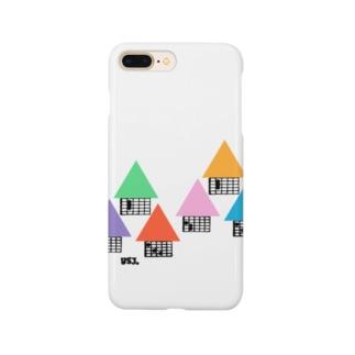 【ギター】住宅地・コードダイアグラムハウス Smartphone cases
