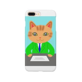 にゃあアナウンサー Smartphone cases