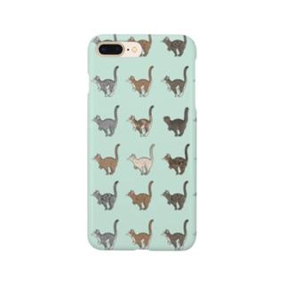 豆つぶのTabbies Cat(総柄) Smartphone cases