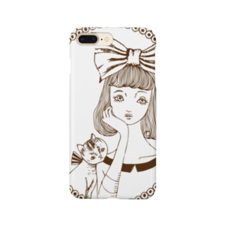 頬杖ガール Smartphone cases