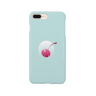 ねむいねむいオバケ!inチェリー Smartphone cases