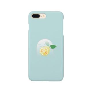 ねむいねむいオバケ! inレモン Smartphone cases