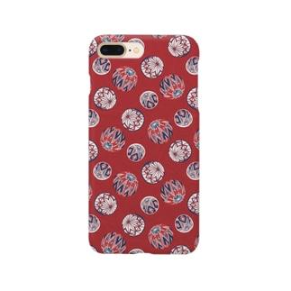 【日本レトロ#02】手まり(パターン) Smartphone cases