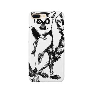 ワオキツネザルのサリー Smartphone cases