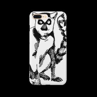 tadano100のワオキツネザルのサリー Smartphone cases